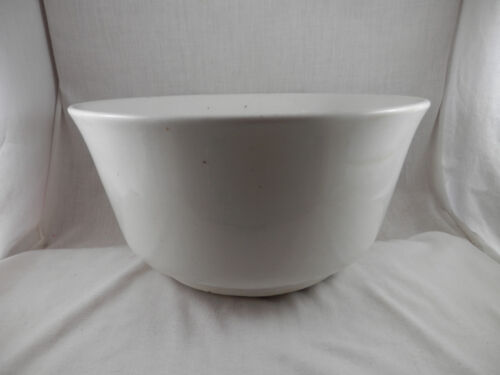 """Vintage Bowl Ironstone China 11"""" heavy thick very old antique"""