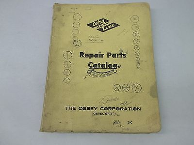 Cobey Farm Line Manure Spreader Forage Wagon Disc Pulverizer Repair Part Catalog