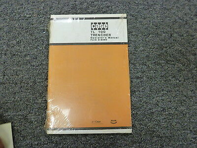 J I Case Tl 100 Trencher Owner Operator Maintenance Manual Book 9-8480 New