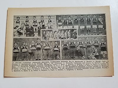 Polish National Alliance College Belmont Abbey Nc 1916 Basketball Team Picture