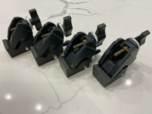 Lot of 4 Manfrotto Super Clamp Art 035 Avenger with T-Knob