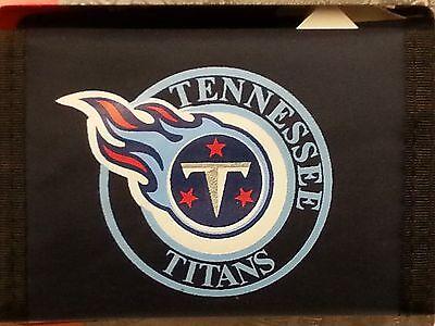 NFL Nylon Tri-Fold Wallet, Tennessee Titans (Logo) NEW