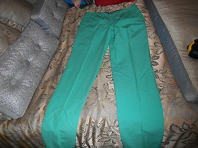 NWT MEN'S BARNEY'S NEW YORK PANTS SIZE 32X35 RETAIL $175 (GREEN)