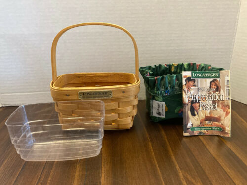 Longaberger 1998 HOSTESS APPRECIATION BASKET with liner and protector