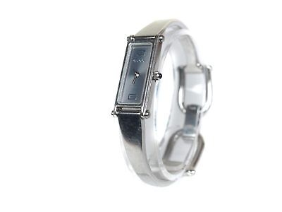 c355c4d192f Auth GUCCI 1500L Metallic Gray Dial Stainless Steel Ladies Watch GW7855L