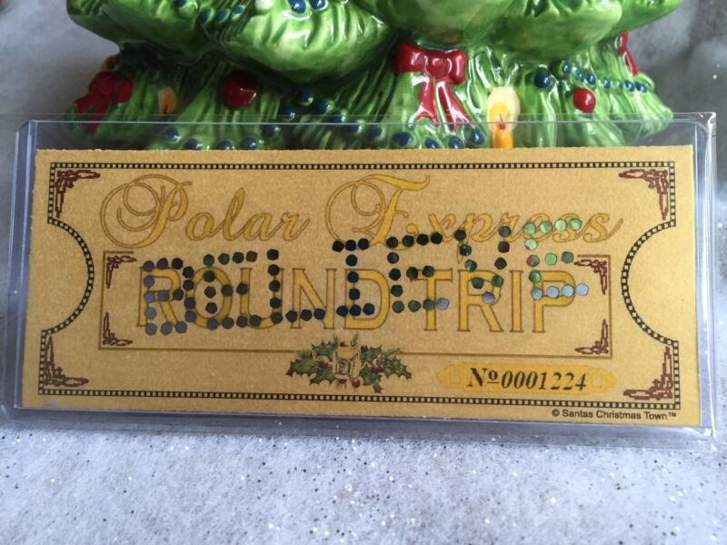 "Polar Express ""Laminated"" Hole Punched Round Trip Keepsake Ticket ~ BELIEVE ~"