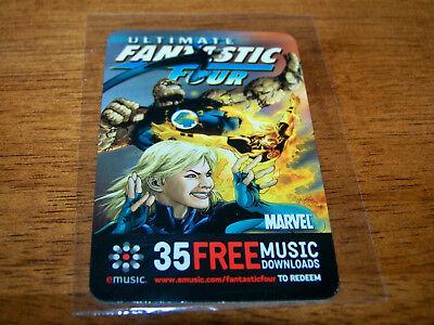Marvel Comics Fantastic Four 4 2006 Emusic Com 35 Free Downloads Promo Card