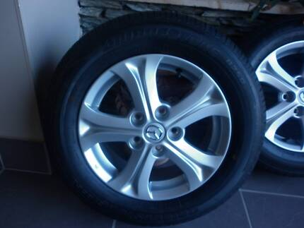 BRAND NEW MAZDA 3 ALLOYS AND TYRES - SET OF 4