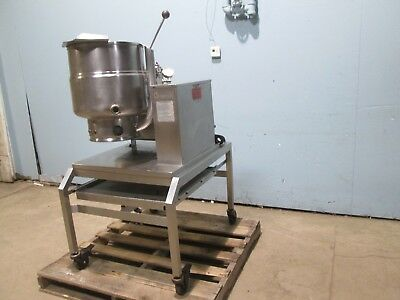 Groen H.d. Commercial Natural Gas 40 Qt. S.s. Steam Jacketed Kettle Station