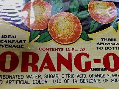 Vintage Label  Orange-O Beverage , John Lasser Co., Chicago, IL