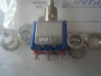 Apem Toggle Switch Dpdt Panel Mount On-off-on 5644thab9 Mpn 5644