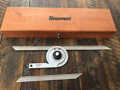 Starrett No. C359 Precision Machinist Protractor 7 12 Blades
