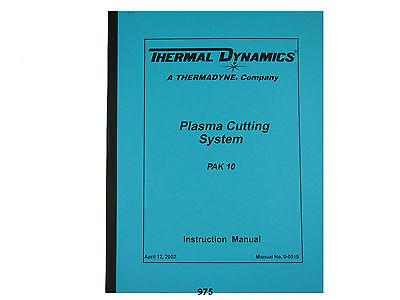Thermal Dynamics Pak 10 Plasma Cutter Instruction Servicing Manual 975