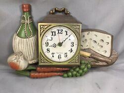 Vintage Retro Burwood New Haven Quartz Kitchen Working Wall Clock Mid Century