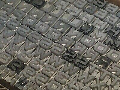 Bank Gothic Bold 12 Pt - Letterpress Type - Vintage Metal Lead Printing Sorts