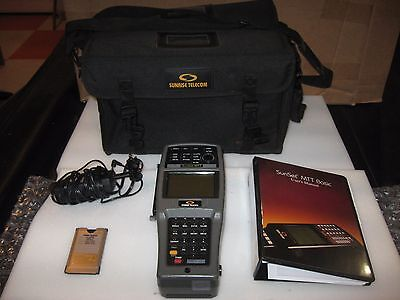 Sunrise Telecom Sunset Mtt Basic Tester Case Charger Manual Software Module