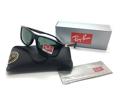 Ray Ban Unisex Black Rectangular New Sunglasses RB 4228F 6227 71 58 Plastic