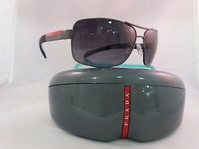 NEW Prada Sports 54IS Sunglasses 7CQ5W1 Gunmetal 100% AUTHENTIC