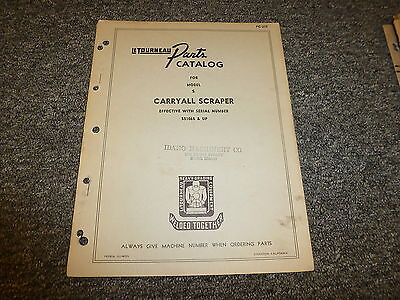 Letourneau Model S Carryall Scraper Parts Catalog Manual Pc217