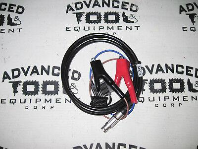 New 1.8m Trimble Mk3 Trimmark 3 Radio Gps Power Cable 2 Pin W Alligator Clips