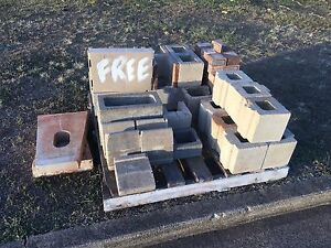 Free blocks, half pavers, concrete tub feet Wynnum West Brisbane South East Preview