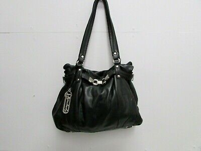 Gently Used! B. MAKOWSKY Large Black Leather Shoulder Bag Purse