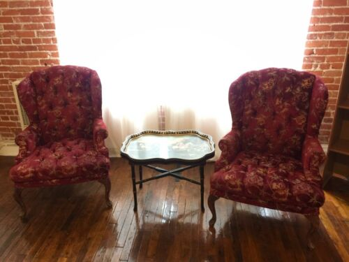 Burgundy Vintage Sofa Chairs