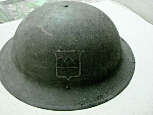 WW1 US Military Signal Corp Co. A 305 FSB Painted Helmet with Liner Named