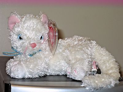 Ty Beanie Baby ~ STARLETT the White Cat ~ MINT with MINT TAGS ~ RETIRED