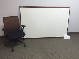 4' X 6' - Whiteboard Magnetic Steelback Wood frame