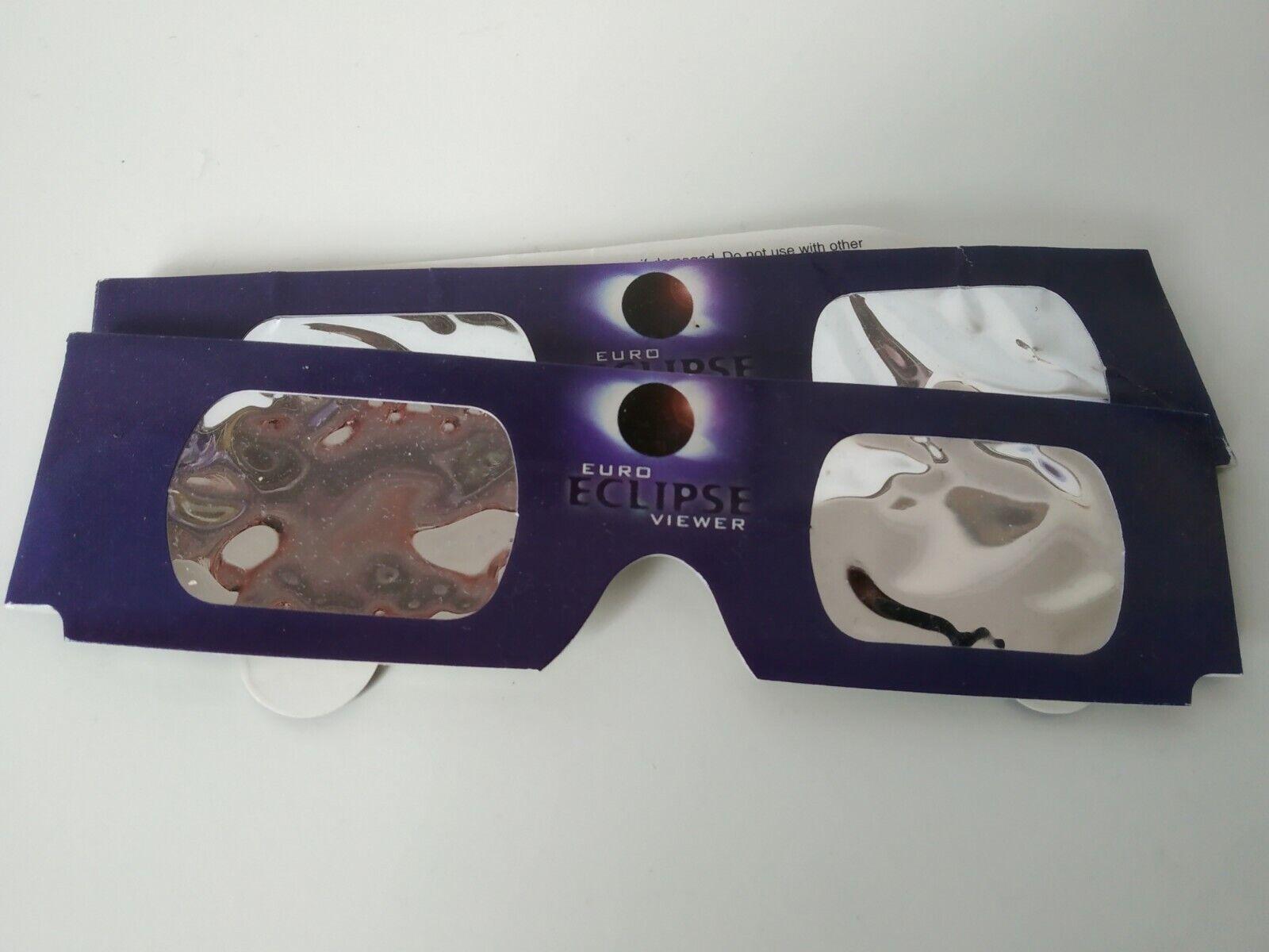 Euro Eclipse Viewer Sonnenfinsternis Sofi Brille Astro Solar Sonnenschutz Neu