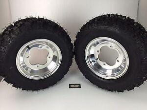 NEW Honda TRX450R TRX400EX Polished Aluminum Front Rims & MASSFX Tires Wheels