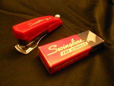 Swingline Tot 50 Vintage 3 Long Mini-stapler 1000 Staple Box - Works Great