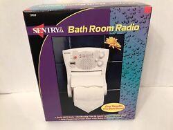 Sentry Bathroom Clock Radio Toilet Paper Holder TPR30 - NEW OPEN BOX RARE