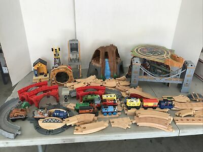 HUGE Lot of Thomas the Train Wooden Railway Track & Engines & More Great Conditi