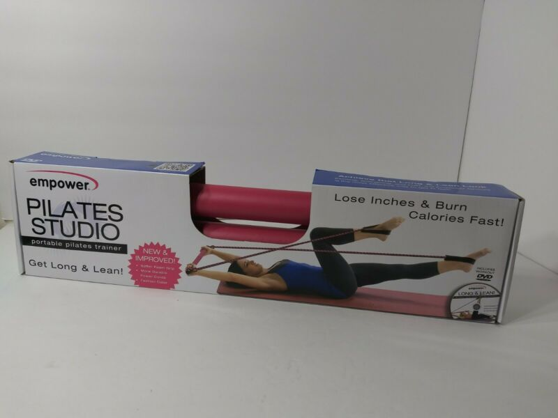 Empower Portable Pilates Studio W/ Dvd New Workout Exercise Balance