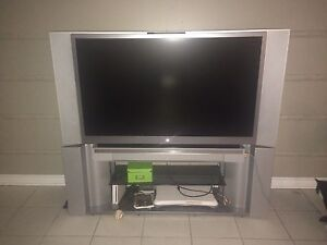 """52"""" TV with attached stand"""