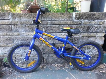 """Virtually new 16"""" Kids bike Cool flame decals Bardon Brisbane North West Preview"""