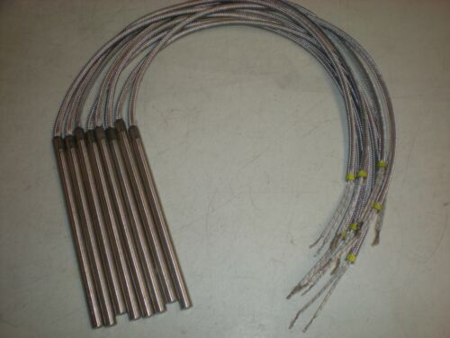 Lot of (8) Watlow J8A61-J24C26 Firerod 1608 Cartridge Heaters - 120V 500W -  NOS