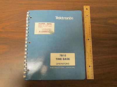 Tektronix 7b10 Time Base Oscilloscope Plugin Operators Manual
