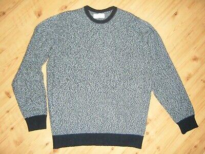 Ballantyne Cashmere Sweater Blue Gray Scotland Crew Heather Exclusive 50 M NR EC