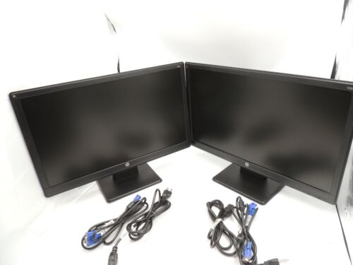 * Two DUAL * HP V221 21.5-inch LED Backlit Monitor  ( lot of 2 )