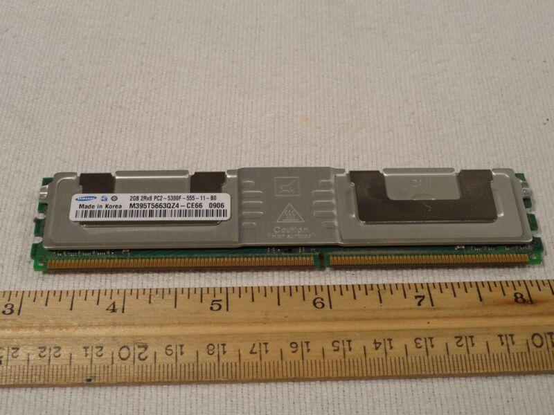 Samsung M395T5663QZ4-CE66 DDR2 FB FBD 2GB PC2-5300 ECC 667Mhz 2Rx8 RAM Memory