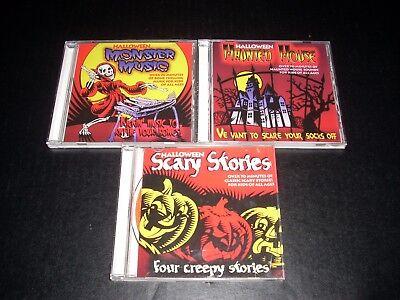 3 Halloween CD's Monster Music Haunted House Scarey Stories - Scary Halloween Rock Music