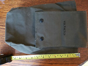 US Military Army Surplus Canvas Olive Green Bag Kit Pouch Vintage Era 6 x 12 x 4
