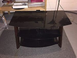 Dark wood and Glass coffee table - lowered price -