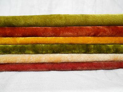 6 COLORS Vintage LONG PILE Miniature Mini Bear Velvet Rayon Fur Fabric 9x9