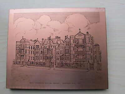 COPPERWARE DESIGNS PLAQUE OF THE MATER HOSPITAL, BELFAST. CENTENARY YEAR, 1983