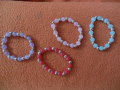 neue dehnbare Perlen Armbänder Armband Gummi Gummiband 4 verschiedene Farben