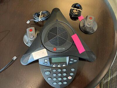 Polycom Soundstation 2 Office Conference Phone W 2x Microphone 2201-16200-001